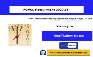 PGVCL Recruitment 2020-21