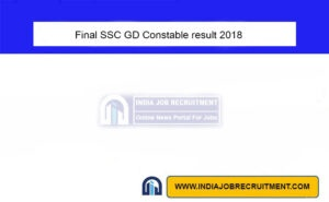 Final SSC GD Constable result 2018
