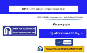 HPSC Civil Judge Recruitment 2021