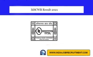 MSCWB Result 2021