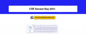 CISF Answer Key 2021