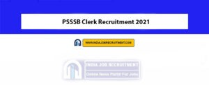 PSSSB Clerk Recruitment 2021