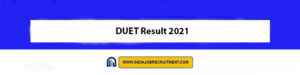 DUET Result 2021 Check Out Now du.ac.in